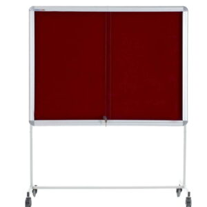 Mobile Notice Board With Glass Case