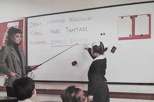 Türkiye'nin ilk beyaz emaye yazı tahtası